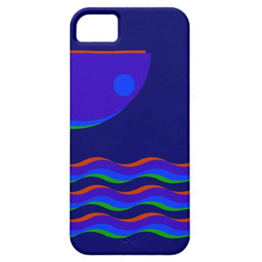 Caso del iPhone 5 de Wavecolor II (oscuro) iPhone 5 Fundas