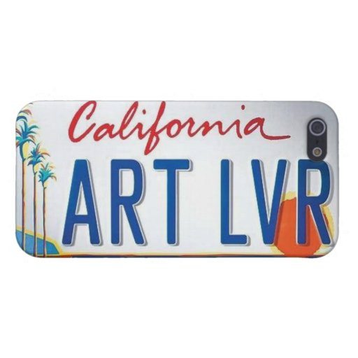 Caso del iPhone 5 del amante del arte de Californi iPhone 5 Coberturas