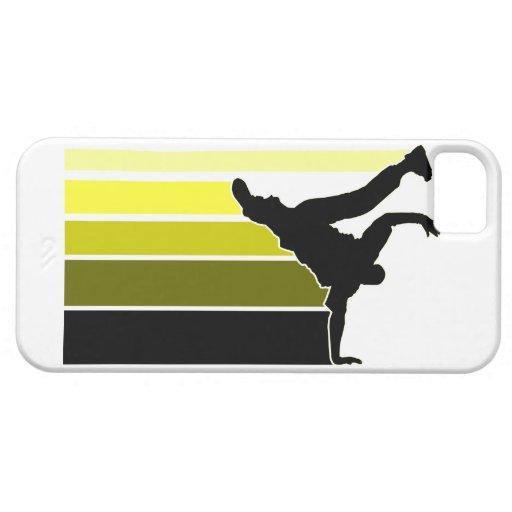 Caso del iPhone 5 del amarillo/negro de la iPhone 5 Funda