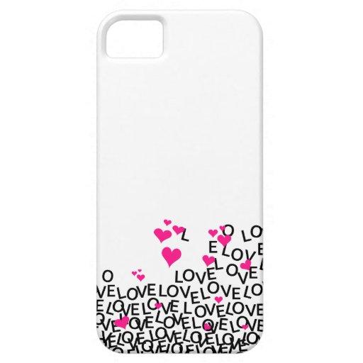 Caso del iPhone 5 del amor del el día de San iPhone 5 Case-Mate Cárcasa