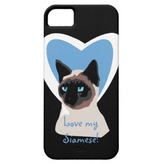 Caso del iPhone 5 del amor del gato siamés iPhone 5 Carcasa