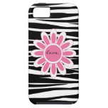 Caso del iphone 5 del amor del rosa de la raya de  iPhone 5 Case-Mate cárcasas