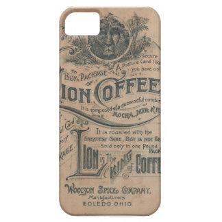 Caso del iPhone 5 del anuncio del café del león de iPhone 5 Case-Mate Carcasas