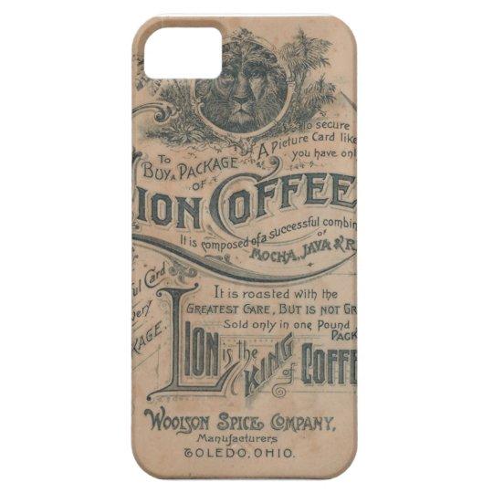 Caso del iPhone 5 del anuncio del café del león Funda Para iPhone SE/5/5s