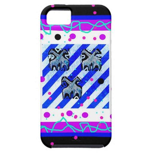 Caso del iphone 5 del Ara - jirafas del caramelo e iPhone 5 Case-Mate Coberturas