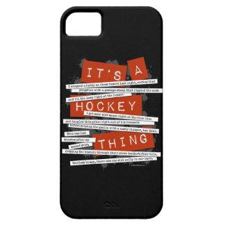 Caso del iPhone 5 del argot del hockey iPhone 5 Case-Mate Funda