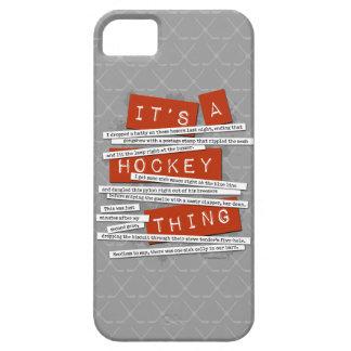 Caso del iPhone 5 del argot del hockey Funda Para iPhone SE/5/5s