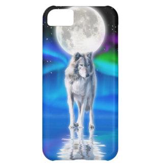Caso del iPhone 5 del arte de la fauna del lobo, d Funda Para iPhone 5C