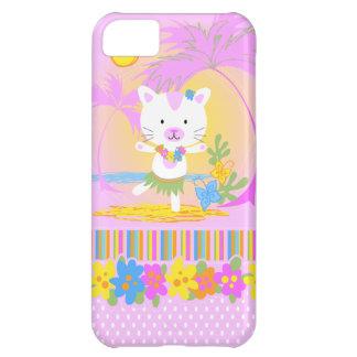 Caso del iphone 5 del baile del gato del verano funda para iPhone 5C