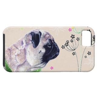 Caso del iPhone 5 del barro amasado y de la flor iPhone 5 Fundas