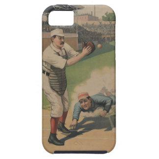 Caso del iPhone 5 del béisbol del vintage iPhone 5 Funda
