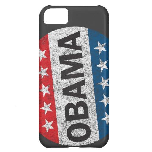 Caso del iPhone 5 del botón de Obama 2012 del voto Funda Para iPhone 5C