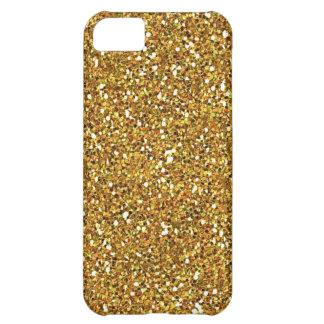 caso del iphone 5 del brillo del oro funda para iPhone 5C