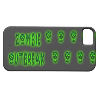 Caso del iphone 5 del brote del zombi iPhone 5 funda