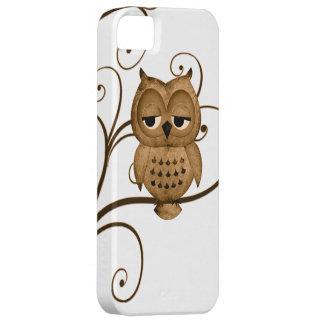 Caso del iPhone 5 del búho del árbol de Brown iPhone 5 Carcasas