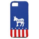 Caso del iPhone 5 del burro de Demócrata iPhone 5 Case-Mate Protectores