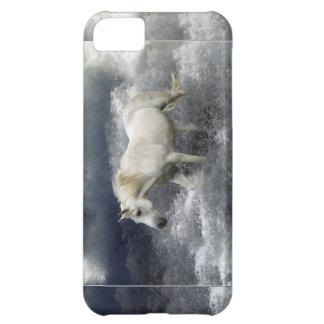 Caso del iPhone 5 del caballo blanco de la fantasí
