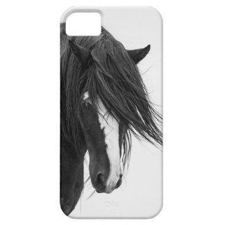 Caso del iPhone 5 del caballo salvaje del retrato iPhone 5 Carcasa