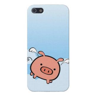 Caso del iPhone 5 del cerdo del vuelo iPhone 5 Fundas
