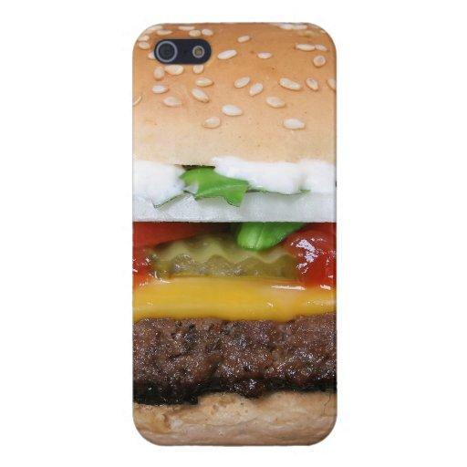 Caso del iPhone 5 del cheeseburger iPhone 5 Funda