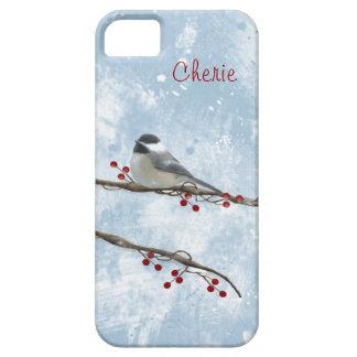 Caso del iPhone 5 del Chickadee del invierno Funda Para iPhone SE/5/5s