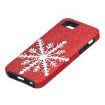 Caso del iphone 5 del copo de nieve del día de fie iPhone 5 funda