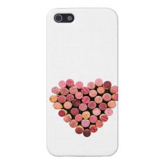 Caso del iPhone 5 del corazón del corcho del vino iPhone 5 Carcasa