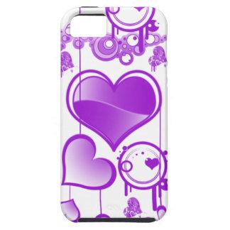 caso del iphone 5 del corazón púrpura iPhone 5 carcasa