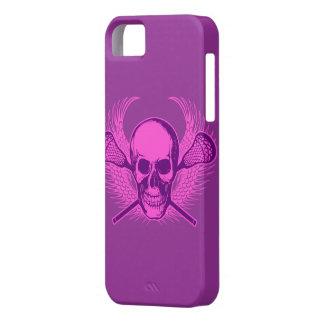 Caso del iphone 5 del cráneo de LaCrosse - púrpura iPhone 5 Fundas