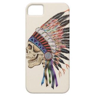 Caso del iphone 5 del cráneo del jefe indio iPhone 5 protector