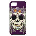 Caso del iPhone 5 del cráneo y de las flores del iPhone 5 Carcasas