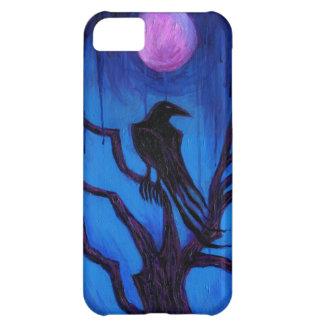 """Caso del iPhone 5 """"del cuervo nunca más"""" Funda Para iPhone 5C"""