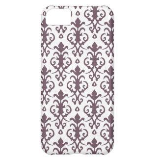 Caso del iPhone 5 del damasco de la berenjena