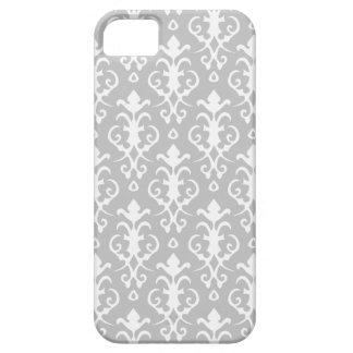 Caso del iPhone 5 del damasco de los gris plateado iPhone 5 Case-Mate Cárcasa