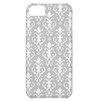 Caso del iPhone 5 del damasco de los gris plateado