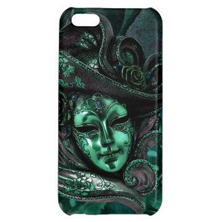 Caso del iPhone 5 del damasco del Máscara-Jade del