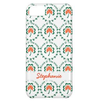 Caso del iPhone 5 del día de St Patrick afortunado Carcasa Para iPhone 5C