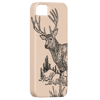 Caso del iPhone 5 del dibujo de los ciervos iPhone 5 Case-Mate Carcasa