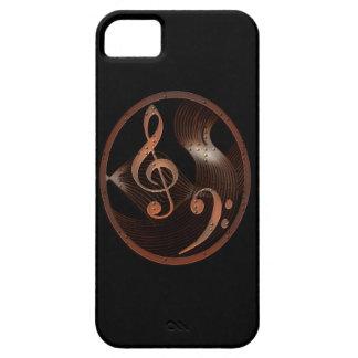 Caso del iPhone 5 del diseño del metal de la músic iPhone 5 Case-Mate Coberturas