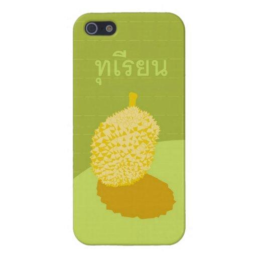 Caso del iPhone 5 del Durian con la escritura iPhone 5 Carcasas