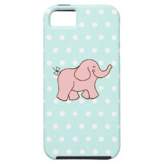 Caso del iPhone 5 del elefante rosado iPhone 5 Carcasas