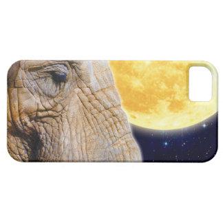 Caso del iPhone 5 del elefante y de la luna iPhone 5 Funda