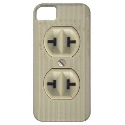 Caso del iPhone 5 del enchufe de pared del vintage iPhone 5 Case-Mate Cárcasas