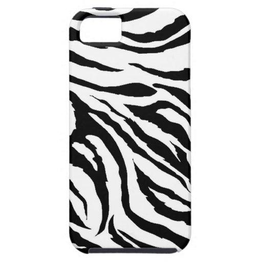 Caso del iPhone 5 del estampado de zebra Funda Para iPhone 5 Tough