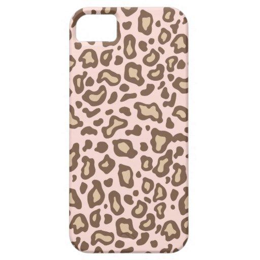 Caso del iPhone 5 del estampado leopardo de los iPhone 5 Fundas