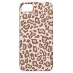Caso del iPhone 5 del estampado leopardo de los ro iPhone 5 Case-Mate Funda