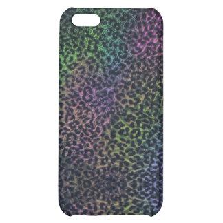 caso del iphone 5 del estampado leopardo del arco