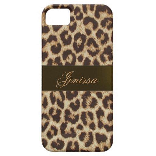 Caso del iPhone 5 del estampado leopardo iPhone 5 Carcasas