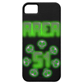 Caso del iphone 5 del extranjero del área 51 iPhone 5 fundas