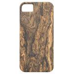 Caso del iPhone 5 del final de Bocote (madera) iPhone 5 Carcasa